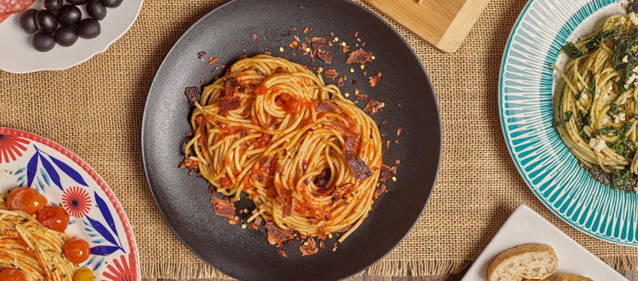Spaghetti Conzazoni a la Amatriciana
