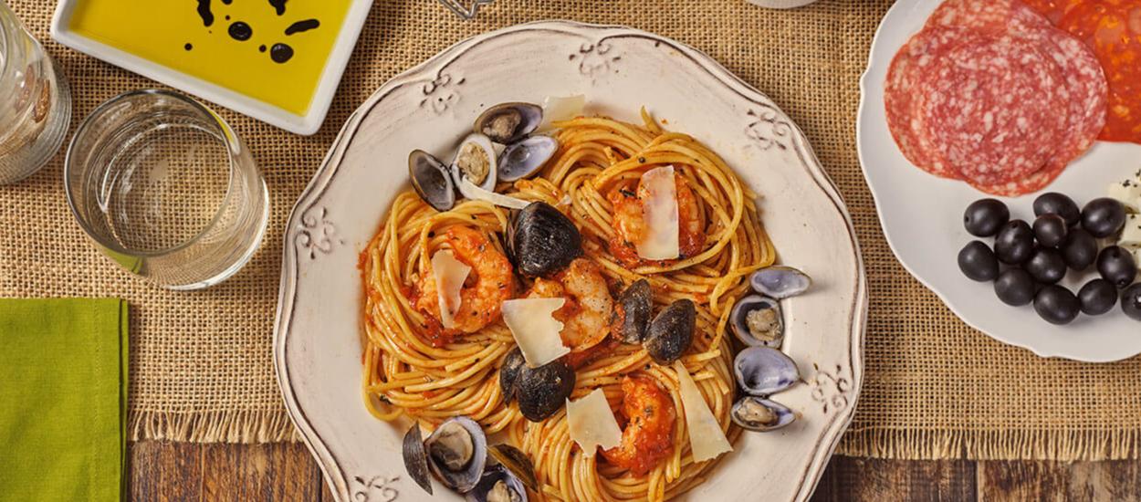 Spaghetti Conzazoni a la marinara